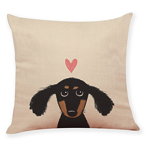 ADESHOP Pillow Covers, Cute Dog Head Printing Soft Solid Decorative Square Throw Pillow Covers 18 * 18inch, A4