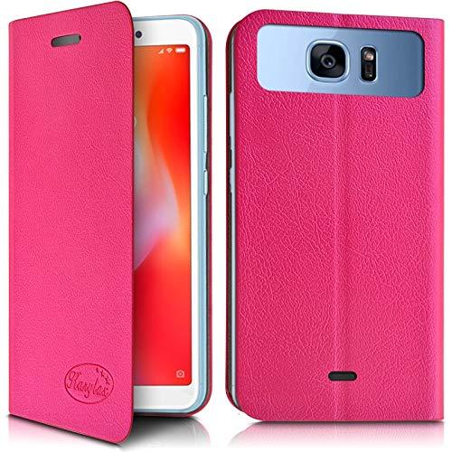 Karylax - Funda con tapa para smartphone Elephone A6 Mini, color rosa