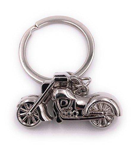 H-Customs Chopper Bike Motorrad Silber Schlüsselanhänger Anhänger
