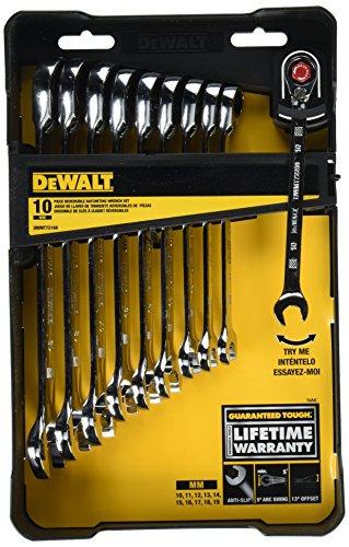 DeWalt DWMT72168 Reversible Ratcheting Wrench Set (10 Piece)
