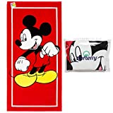 Disney Mickey Mouse Classic Beach Towel 28 x 58 inches -Printed...