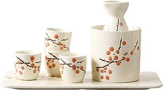 YBINGA Sake Set med 7 delar japansk sake-kopp uppsättning traditionell handmålad design porslin keramik koppar hantverk vi...