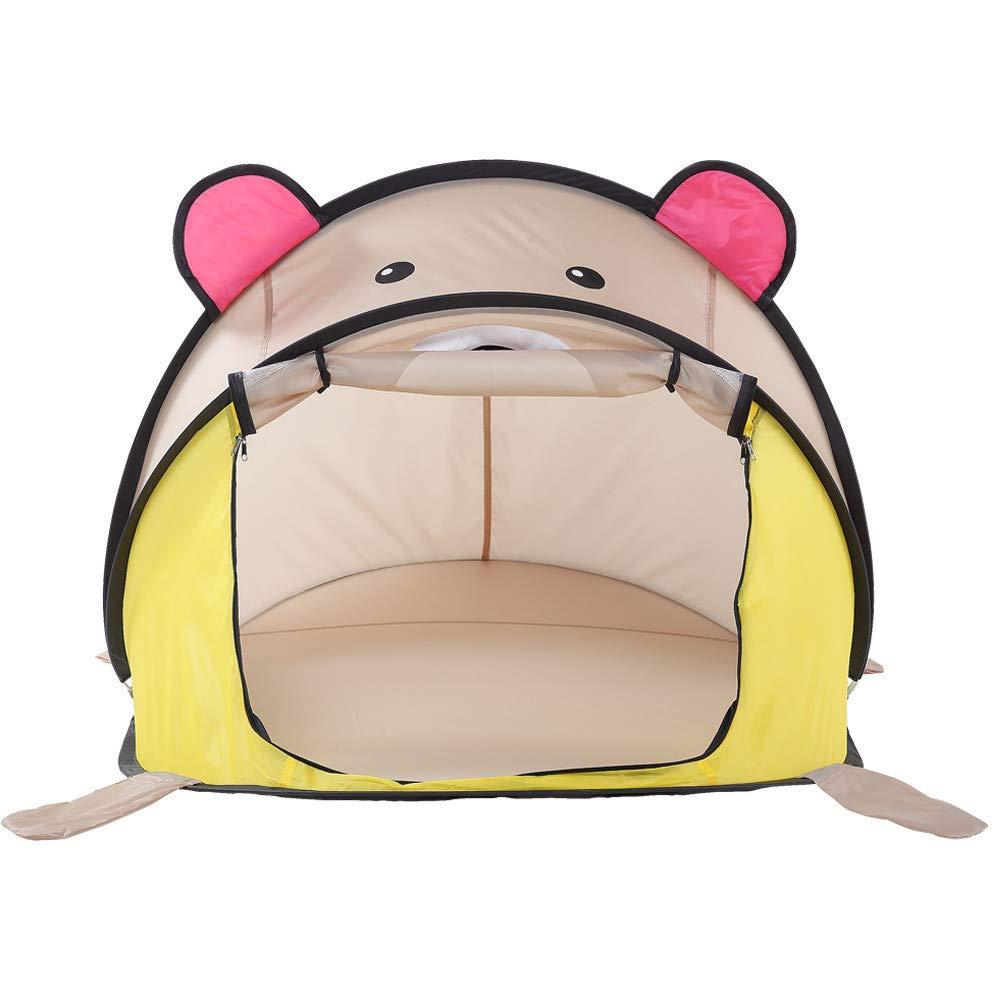 Kids Play Tent Tienda de campaña para niños Juego de osos de dibujos animados para interiores Juego de osos de verano para dormitorio de la casa para uso en interiores y exteriores (