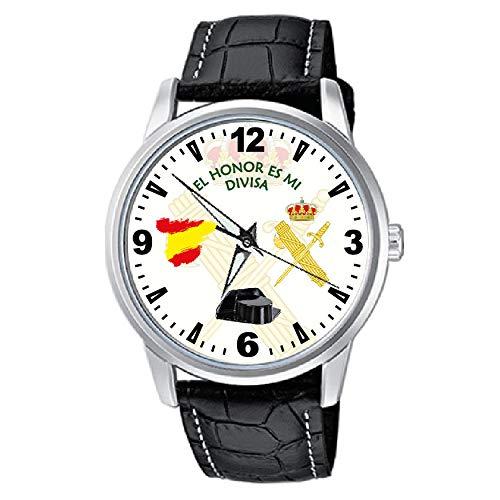 CASIO Reloj Guardia Civil Fondo Blanco Sumergible