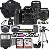 Nikon D7500 DSLR Camera with AF-P 18-55mm VR Lens + Nikon AF-P 70-300mm f/4.5-6.3G ED Lens + 2pc SanDisk 32GB Memory Cards + Accessory Kit