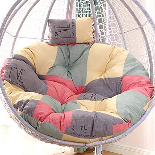 WZDD Round Hanging Egg Hammock Chair Cushion, Swing Hanging Basket Seat Pads - Hammock Swing Chair Seat Cushion For Bedroom Teen Girl - Machine Washable