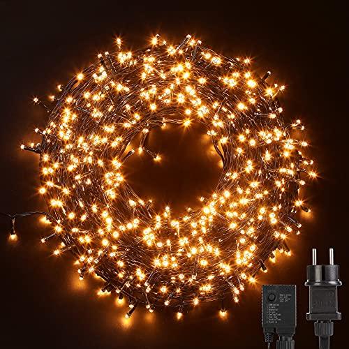 Avoalre Luces Navidad Exterior 100M 1000 LED, Guirnaldas Luces Cadena de Luz 8 Modos Impermeables Guirnalda Decoracion para...