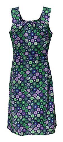 Sommerkleid Kleid Hauskleid Gartenkleid Strandkleid Baumwolle, Größe:44, Design:Design 2