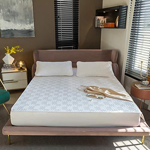 FJMLAY Bedsure Sabanas Bajeras Ajustables -,protección Antideslizante para el apartamento del Dormitorio-White_3_100x200cm