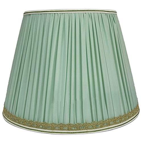 Plisowany abażur z tkaniny, abażur do lampy stołowej, pokój dzienny E27 Śruba z tkaniny ustnej Lampa stołowa Abażur do lampy podłogowej, zielony