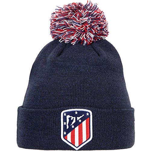 New Era Bobble Tricolor Atlético Madrid Bommelmütze Wintermütze (one Size, Navy)