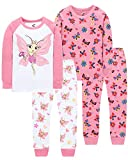 Pajamas for Girls Christmas Toddler Kids Butterfly PJs Baby Clothes 4 Pieces Pants Set 4t