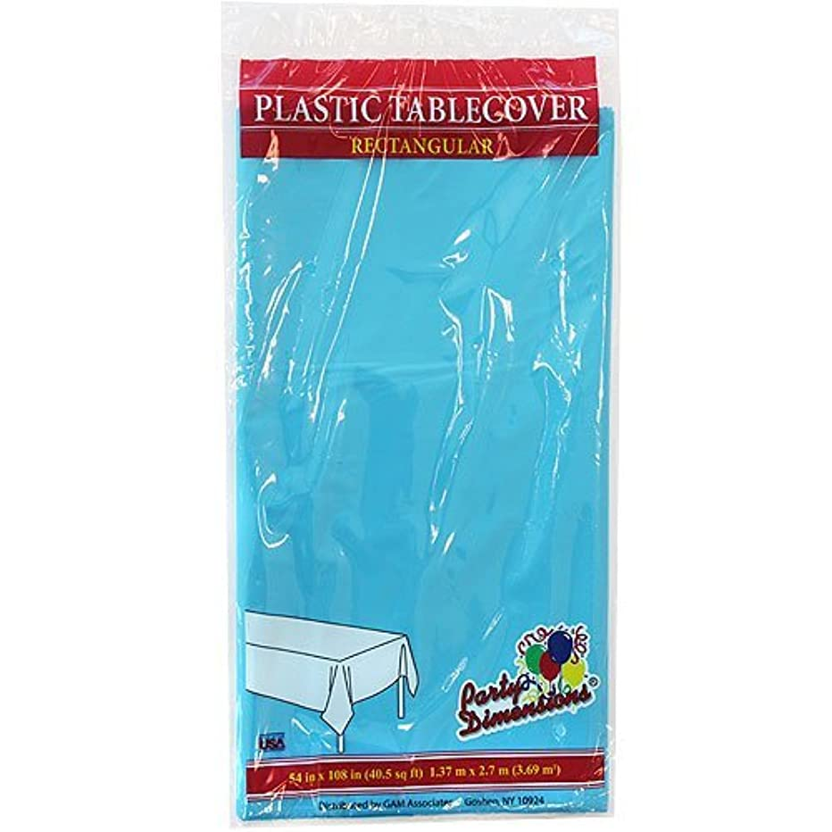 Plastic Party Tablecloths - Disposable, Rectangular Tablecovers - 4 Pack - Island Blue - By Party Dimensions