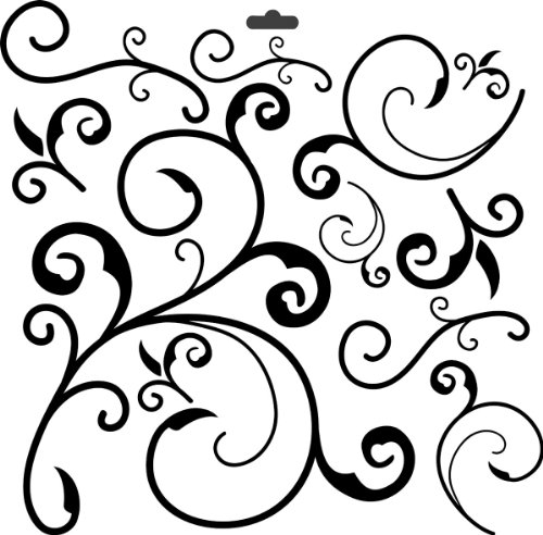 CRAFTERS WORKSHOP 373196 Template, 12 by 12-Inch, Capricious