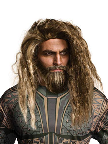 Rubie's Costume Co Men's Justice League Aquaman Beard & Wig, As Shown, One Size