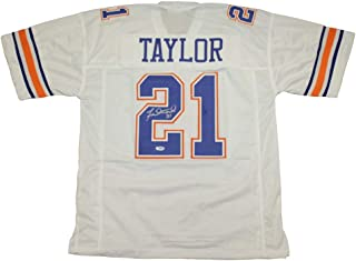 Fred Taylor Florida Gators Autographed Signed Custom White Jersey - PSA/DNA Authentic