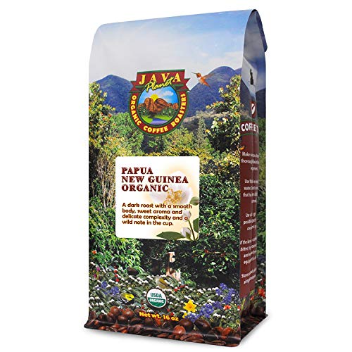 Organic Coffee Beans - Dark Roast Papua New Guinea, Whole Bean Coffee, Arabica Gourmet Coffee Beans 1lb