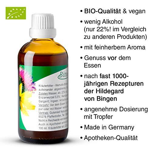 BITTERKRAFT Original in 5 Größen - BIO- Bitterstoffe Tropfen nach Hildegard von Bingen -...