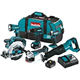 Makita XT610 18V LXT Lithium-Ion Cordless 6 Piece Combo Kit (3.0Ah)