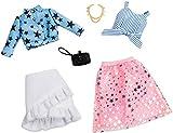 Mattel Fashionistas-Pack de 2 Modas, Ropa Barbie Estampado de Estrellas, Accesorios muñecas, Multicolor FXJ66
