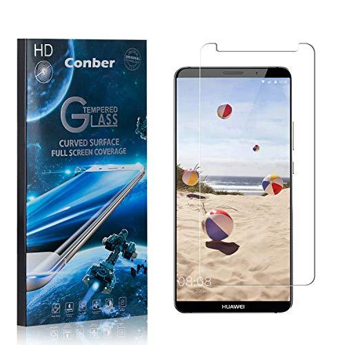 Conber [3 Pièces] Verre Trempé pour Huawei Mate 10 Pro, [9H Dureté][sans Bulles][Haut Définition] Ultra-résistant Film de Protection écran pour Huawei Mate 10 Pro