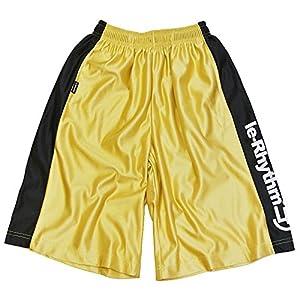 le-Rhythm(リアリズム) バスケットパンツ キッズ レディース メンズ ユニセックス ハーフパンツ(サイズ2)? ゴールド