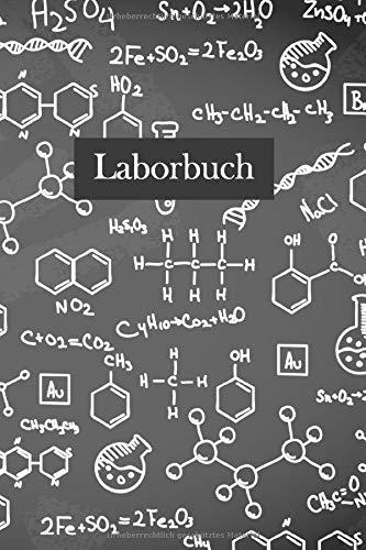 Laborbuch: Forschung Chemie Notizbuch   Mit Extra Experiment Vorlagen   Für's Labor & Studium   Für planen, organisieren und dokumentieren   105 Seiten   ca. Format A5  