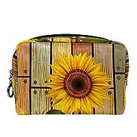 化粧ポーチ ポータブルトラベルコスメティックバッグ, 木製の花