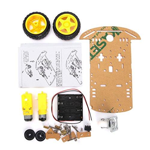 DollaTek Smart Motor Roboter Auto Batterie Box Chassis Kit Geschwindigkeit Encoder für Arduino