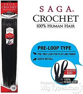 SAGA HUMAN HAIR CROCHET BRAIDS PRE LOOP TYPE YAKY (18
