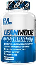 Evlution Nutrition Leanmode + Probiotic, Advanced Probiotic Capsule Supplement, 15 Billion CFUs per Serving, Digestive Support & Gut Health (40 Servings)