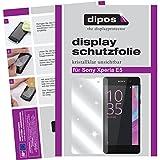 dipos I 2X Schutzfolie klar kompatibel mit Sony Xperia E5 Folie Bildschirmschutzfolie