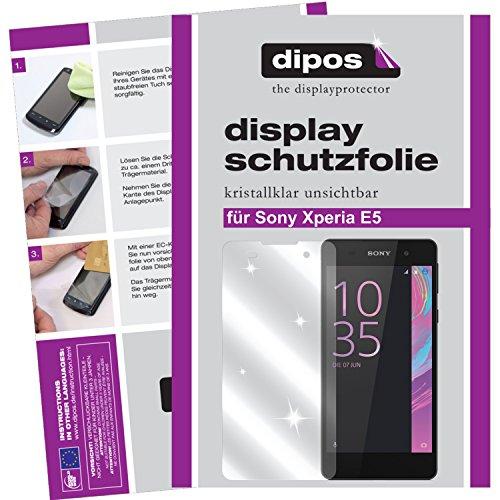 dipos I 6X Schutzfolie klar kompatibel mit Sony Xperia E5 Folie Bildschirmschutzfolie
