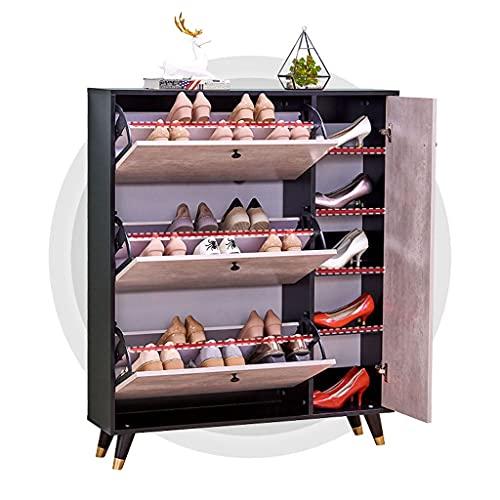 Almacenamiento de zapatos de 3 niveles Moderno Minimalista Estilo, Rack de zapatos Organizador de almacenamiento de zapatos, Envase de almacenamiento de piso Puesto apilable Spackable Saver Shoe Hack