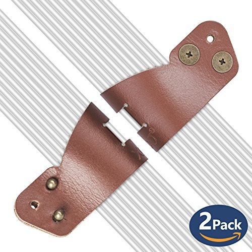 Cable Organizer,XGUO Wire Cord Management- Genuine Leather Handmade[2 Pack]