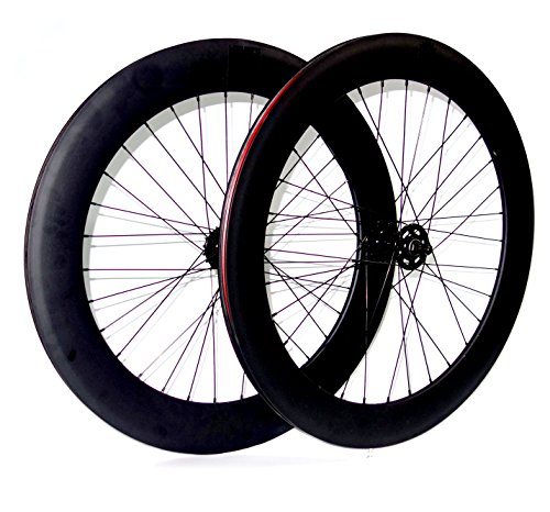Mowheel Pareja de Ruedas Bicicleta Fixie o Single Speed. Perfil 70mm Color Negro Mate