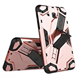 Yhuisen Heavy Duty Hybrid Armor Defender Shockproof Tablet Case with Foldable Stand Hand Strap Protective Cover for Samsung Galaxy Tab A 7.0 inch 2016 SM-T280/SM-T285 (Color : Rose Gold)