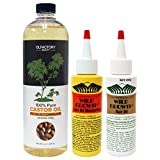 Wild Growth Hair Oil 4 Oz,Light Oil Moisturizer 4oz & OLFactory 100% Castor Oil 16oz