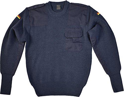 normani Bundeswehr Pullover mit Brusttasche und Deutschlandabzeichen Farbe Blau Größe 50/52