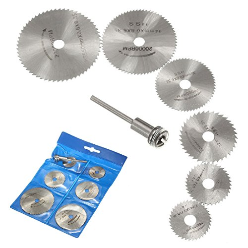OriGlam roterende cirkelzaagbladen van HSS-staal voor Dremel boormachines, roterende ringstok, 6 stuks
