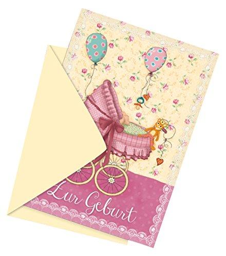 Lutz Mauder Lutz mauder27727TapirElla Kinderwagen Mädchen Geburt Grußkarte