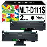 Greenbox D111S Toner di ricambio per Samsung MLT-D111S 2 X nero Toner compatibile con Samsung Xpress M2026 M2026W M 2070 SL-M2070 SL-M2070W M2070F M2070FW M2020W M2022 M20222 W.