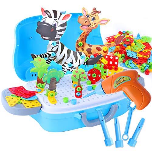 329 Piezas Tablero de Mosaicos Infantiles, Mosaicos para niños, Juguetes Montessori Puzzles 3D, Juegos Educativos Regalos Juguetes para Niños de 3 4 5 Años