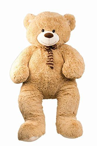 Geschenkestadl XXL Teddy Bär 150cm groß Hellbraun Kuschelbär Kuscheltier Stofftier Teddybär