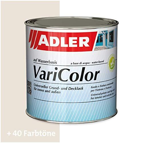 ADLER Varicolor 2in1 Acryl Buntlack für Innen und Außen - 125 ml RAL9001 Cremeweiß Beige - Wetterfester Lack und Grundierung für Holz, Metall & Kunststoff - Seidenmatt