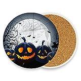 Ceramic Coaster Set of 2 - Moon Haunted House...