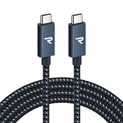 RAMPOW Cavo USB C a USB C 3.2 Gen 2x2 con E-Mark, Cavo Thunderbolt 3 con PD 3.0 100W 20V/5A, 4K@60Hz per MacBook PRO 16'' 2019/2017, iMac, Samsung S10/S9, Huawei P30/P20, Nintendo Switch, ECC - 2M