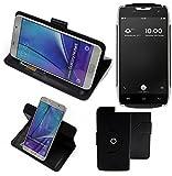 K-S-Trade® Hülle Schutz Hülle Für Doogee T5 Handyhülle Flipcase Smartphone Cover Handy Schutz Tasche Bookstyle Walletcase Schwarz (1x)