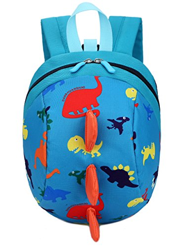 Toddler kids Dinosaur Backpack Book Bags with Safety Leash for Boys Girls (Style:8 Blue)