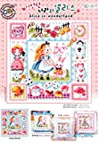 SO-3177 Alice in wonderland, SODA Cross Stitch Pattern leaflet, authentic Korean cross stitch design chart color printed on coated paper